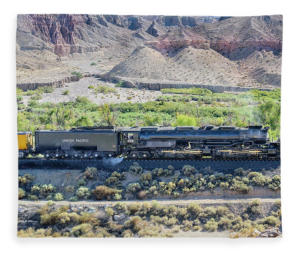 Afton Canyon Fleece Blanket featuring the photograph Up4014 Big Boy by Jim Thompson