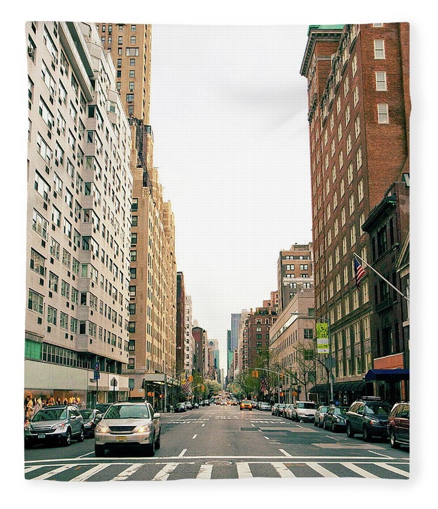 Outdoors Fleece Blanket featuring the photograph Upper East Side, New York City by William Andrew