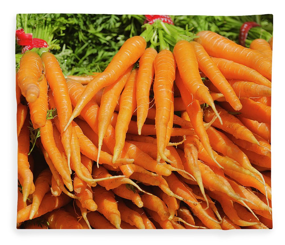 Large Group Of Objects Fleece Blanket featuring the photograph Usa, New York City, Carrots For Sale by Tetra Images