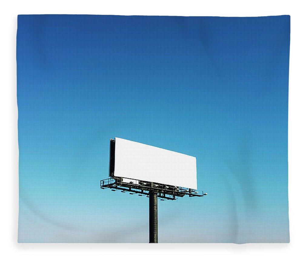 North Carolina Fleece Blanket featuring the photograph Usa, North Carolina, Billboard Under by Tetra Images