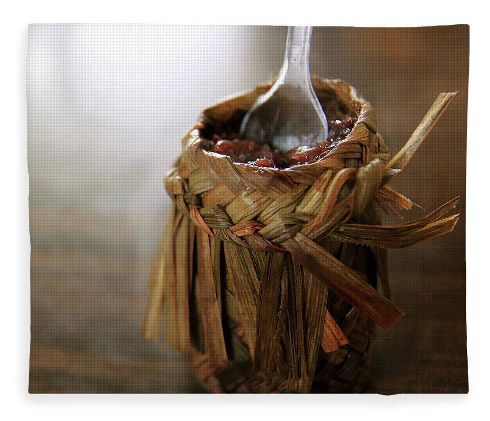 Chinese Culture Fleece Blanket featuring the photograph Vanilla Rice by 100