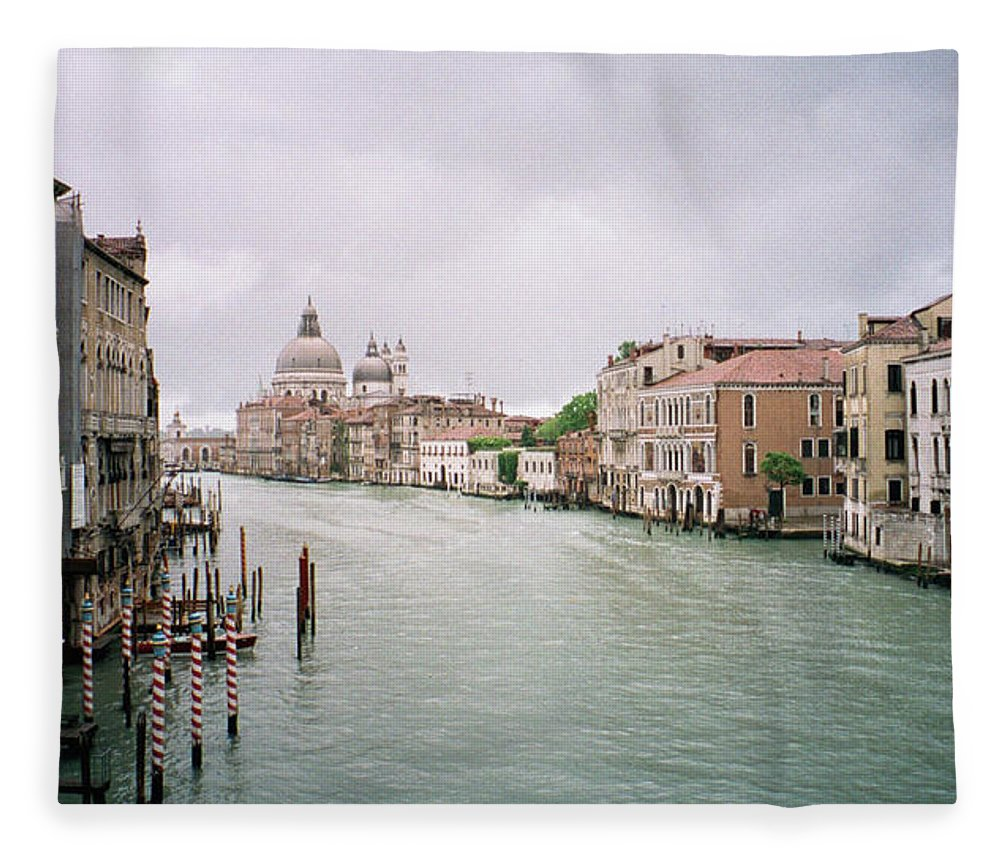 Europe Fleece Blanket featuring the photograph Venice Grand Canal by Dick Goodman