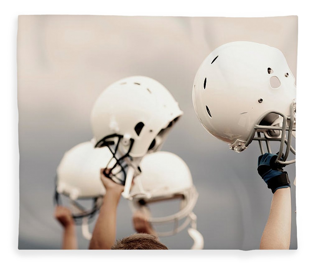 Sports Helmet Fleece Blanket featuring the photograph Victory by Richvintage