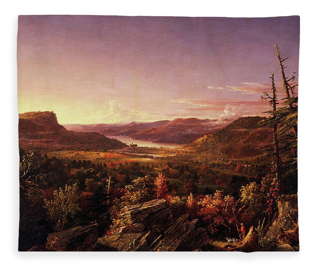 View Of Greenwood Lake Fleece Blanket featuring the painting View Of Greenwood Lake, New Jersey by Jasper Francis Cropsey