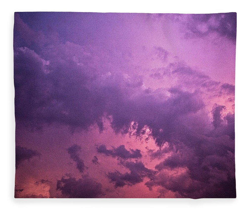 Scenics Fleece Blanket featuring the photograph Violet Sky by Richard Newton / Daddynewt