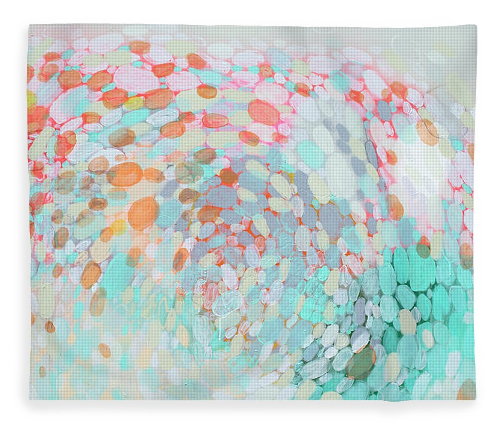 Abstract Fleece Blanket featuring the painting Want To Go by Claire Desjardins