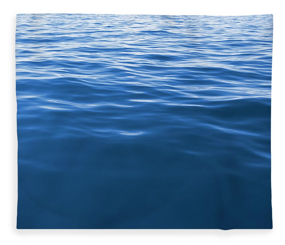 Waving Fleece Blanket featuring the photograph Wave Texture Background - Deep Blue Xxxl by 4fr
