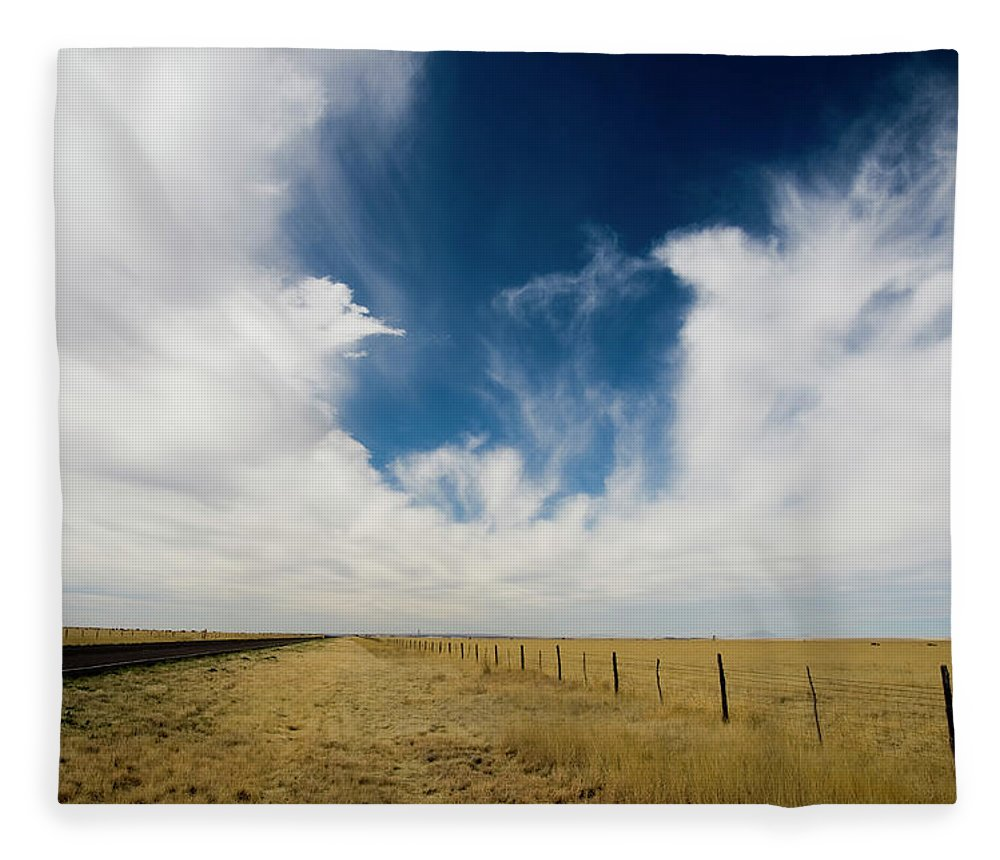Scenics Fleece Blanket featuring the photograph West Texas Grasslands United States Of by Tier Images