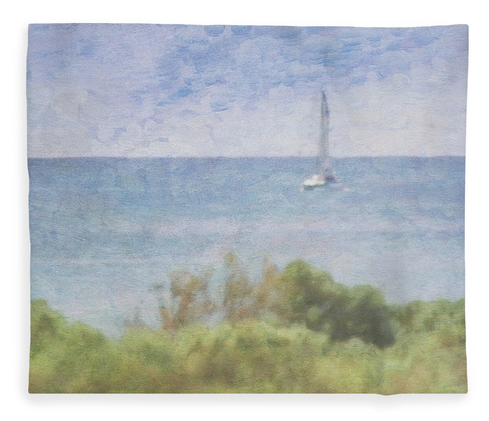 Tranquility Fleece Blanket featuring the photograph When Your Boat Comes In by Craig Hewson