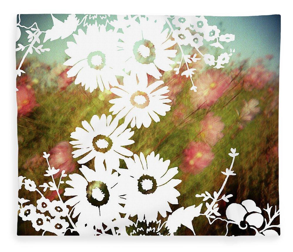 Outdoors Fleece Blanket featuring the digital art Wild Flowers by Jenene Chesbrough