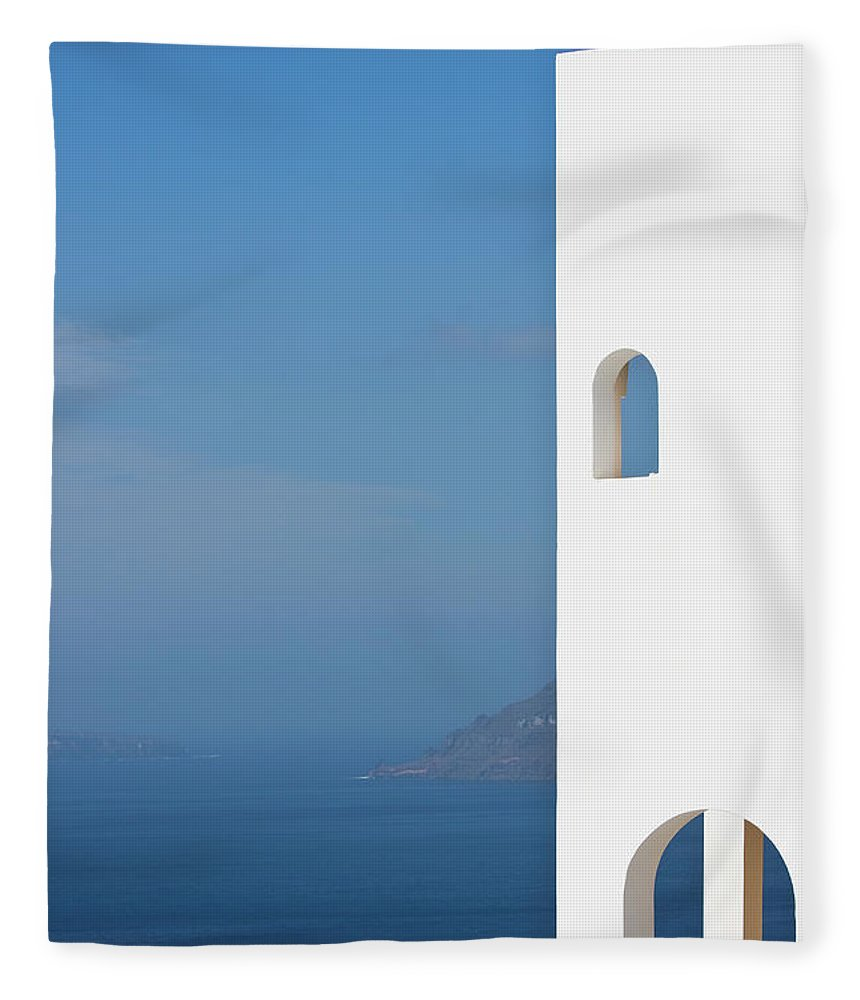 Greece Fleece Blanket featuring the photograph Windows To The Blue by Arturbo
