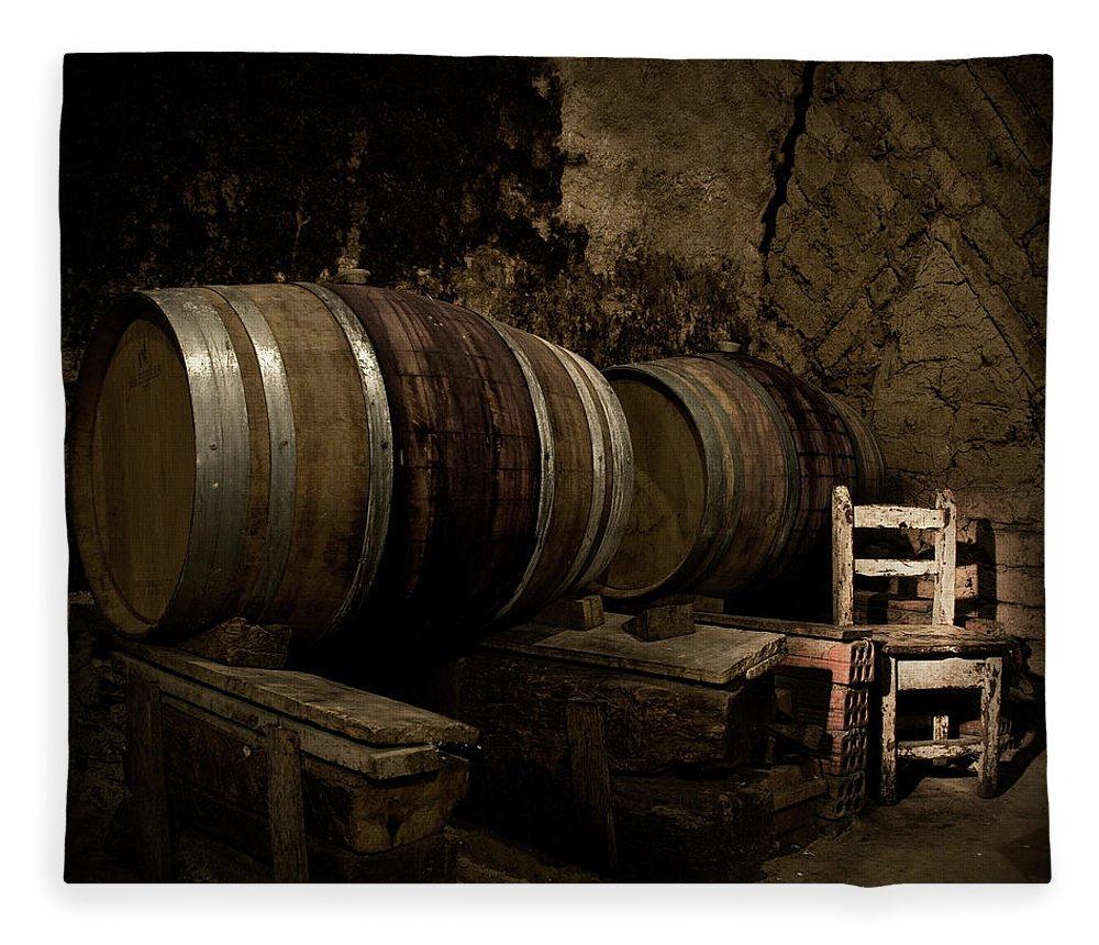 Fermenting Fleece Blanket featuring the photograph Wine Cellar by Fotografias De Rodolfo Velasco