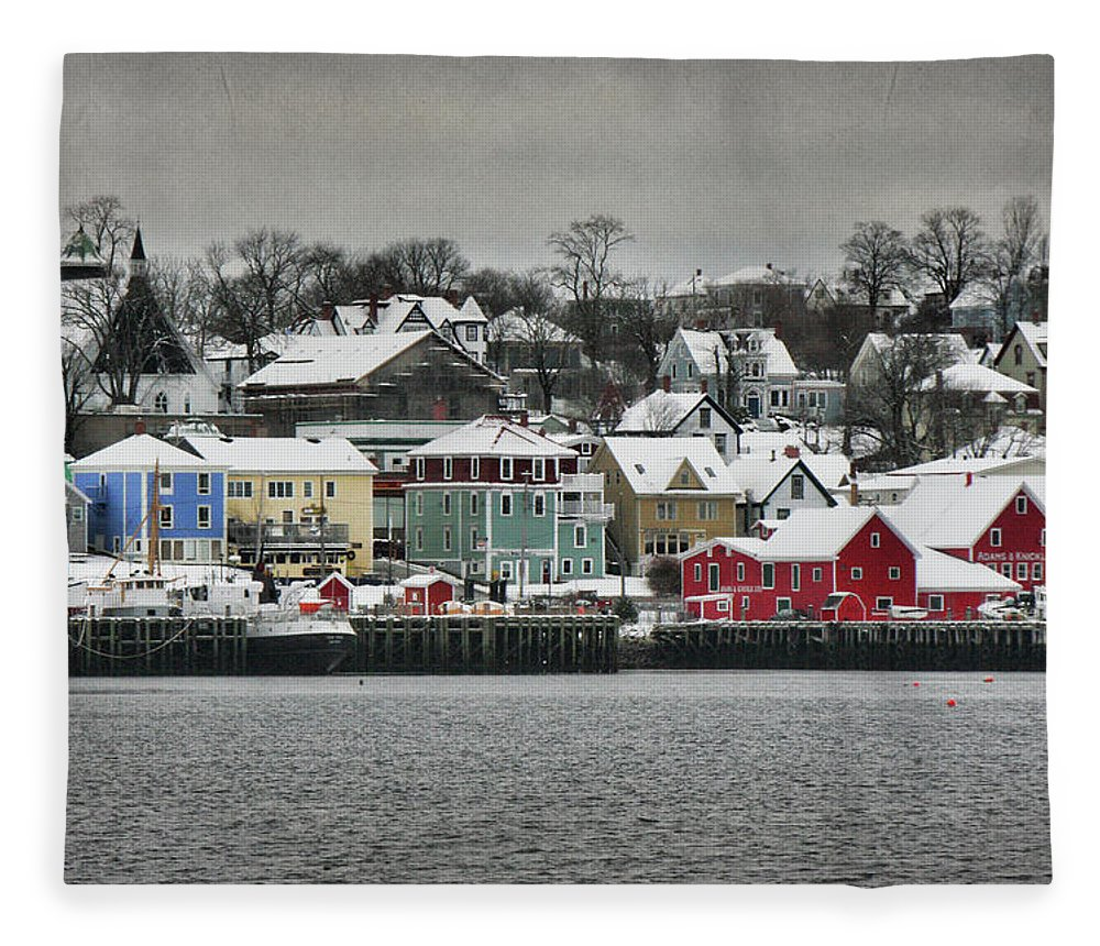 Snow Fleece Blanket featuring the photograph Winter In Lunenburg by Amanda White