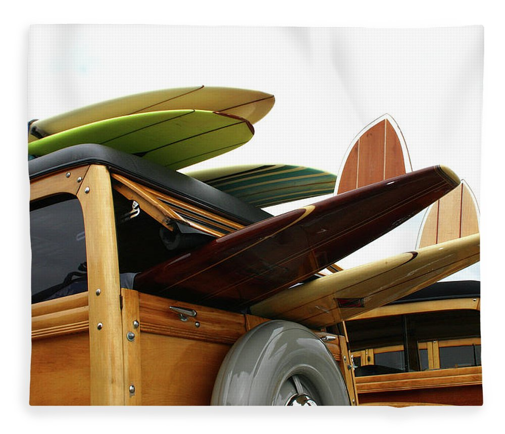 Adolescence Fleece Blanket featuring the photograph Woodies On The Wharf by Mattabbe