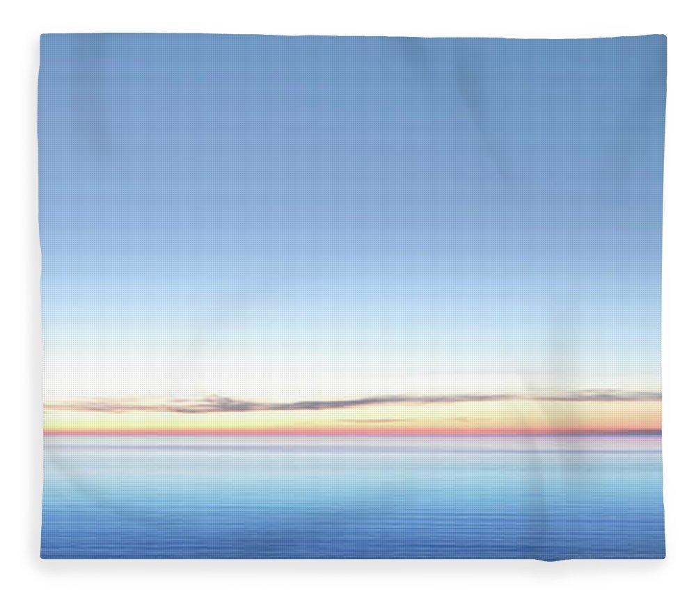Lake Michigan Fleece Blanket featuring the photograph Xxl Serene Twilight Lake by Sharply done