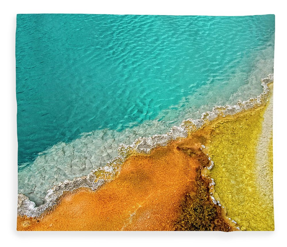 Geology Fleece Blanket featuring the photograph Yellowstone West Thumb Thermal Pool by Bill Wight Ca