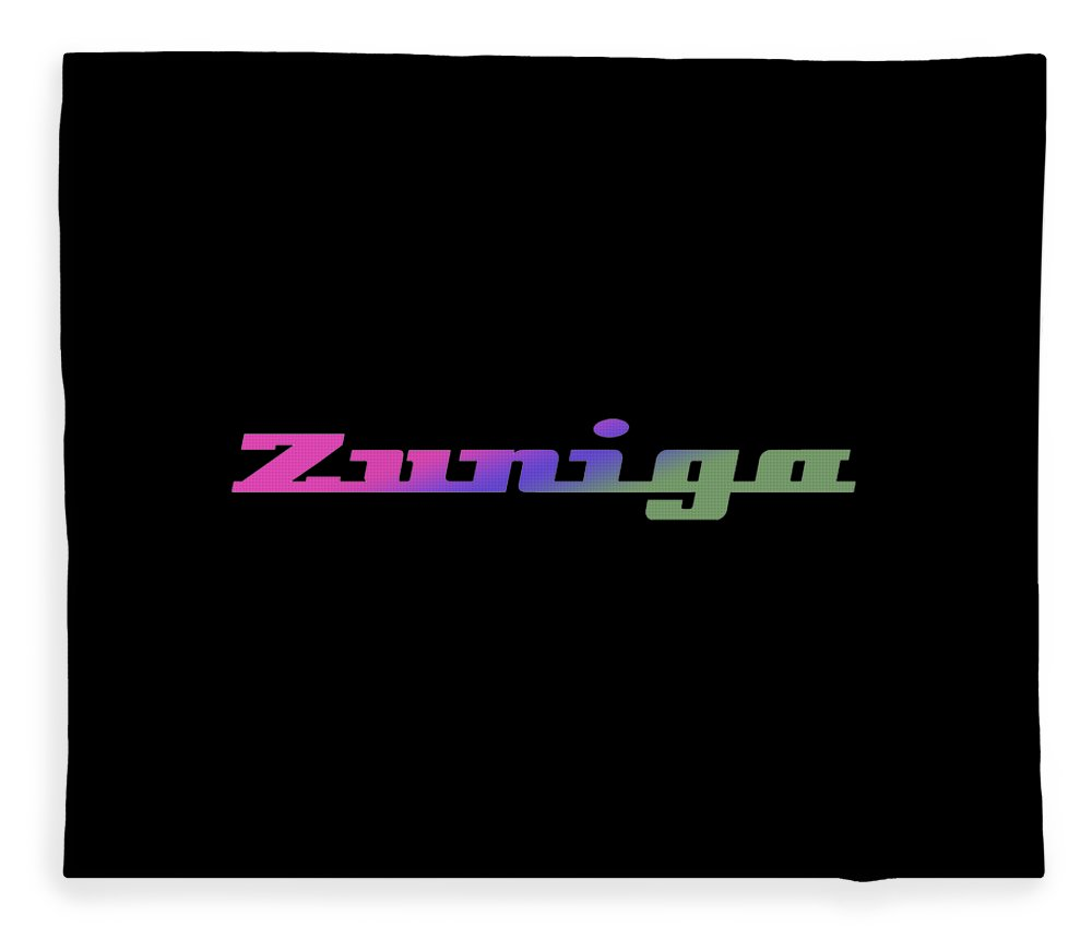 Zuniga Fleece Blanket featuring the digital art Zuniga #zuniga by TintoDesigns