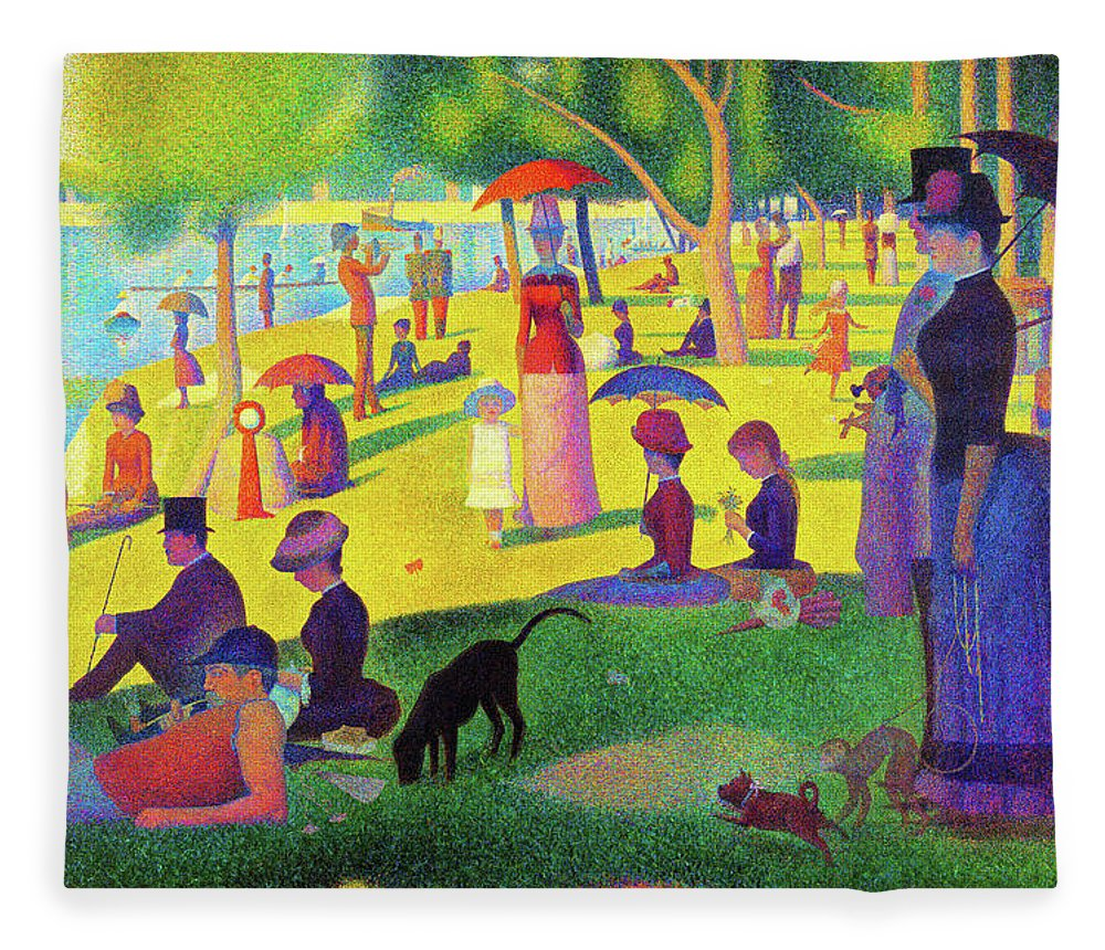 A Sunday Afternoon On The Island Of La Grande Jatte Digital Remastered Edition Fleece Blanket For Sale By Georges Seurat