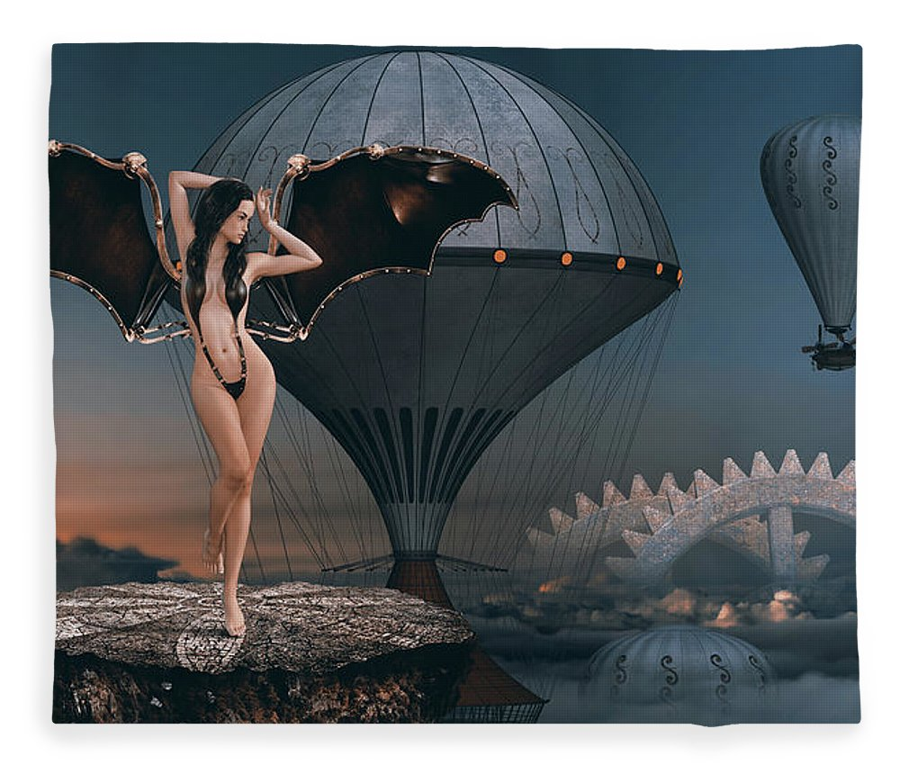 Surreal Fleece Blanket featuring the photograph Above The Clouds by Mihaela Pater