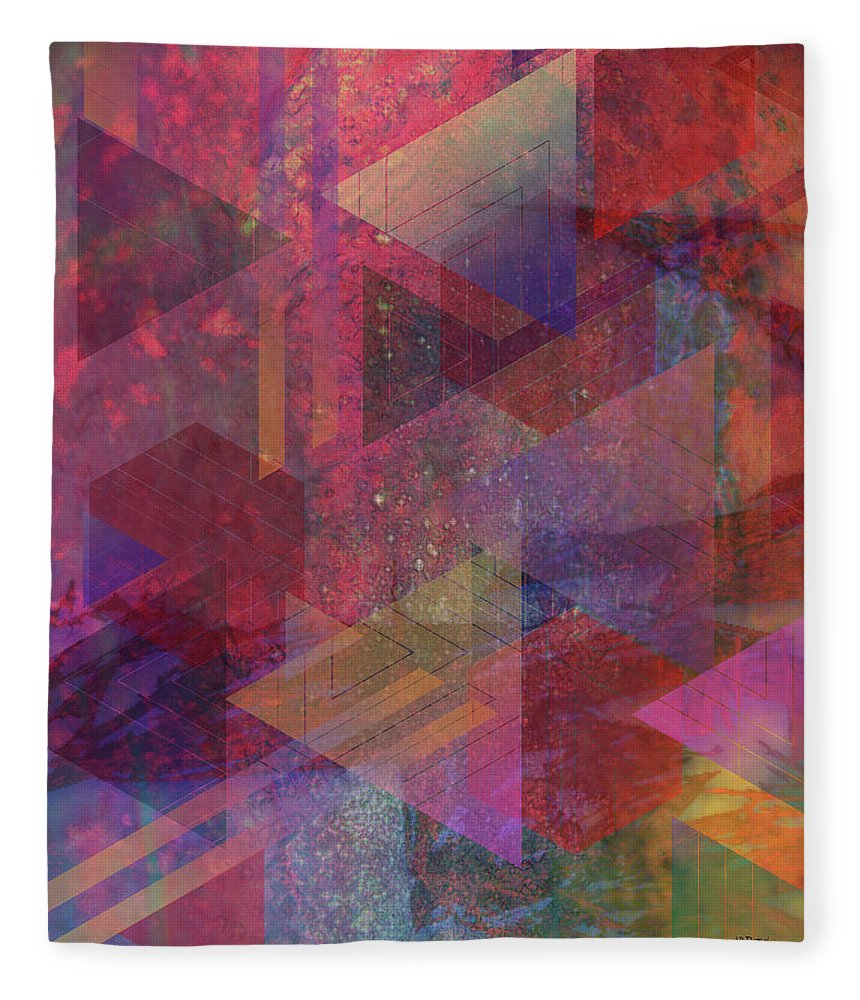 Another Place Fleece Blanket featuring the digital art Another Place by John Robert Beck