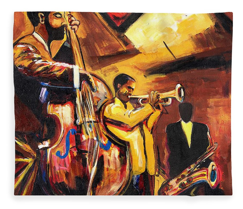 Everett Spruill Fleece Blanket featuring the painting Birth Of Cool by Everett Spruill
