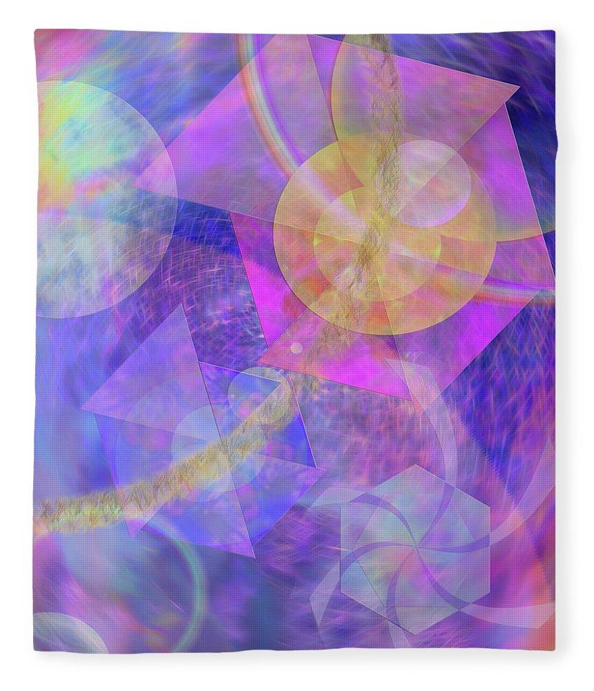 Blue Expectations Fleece Blanket featuring the digital art Blue Expectations by John Robert Beck