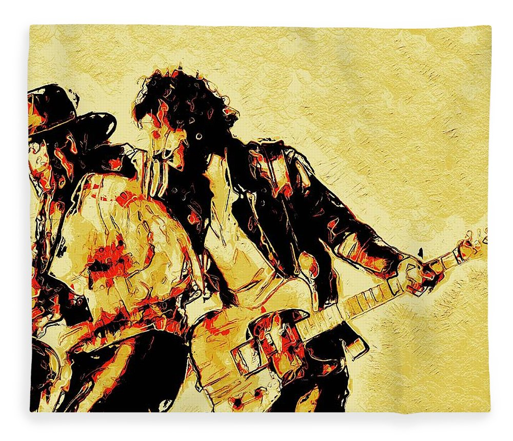 Bruce Springsteen Fleece Blanket featuring the digital art Bruce Springsteen and clarence clemons Classic by Unexpected Object