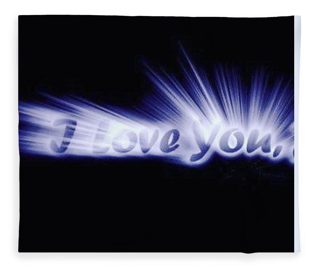 Love Fleece Blanket featuring the digital art Burst Of Love by Ariana Torralba