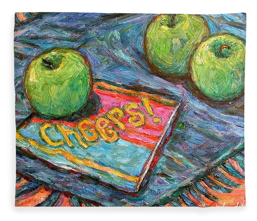 Still Life Fleece Blanket featuring the painting Cheers by Kendall Kessler