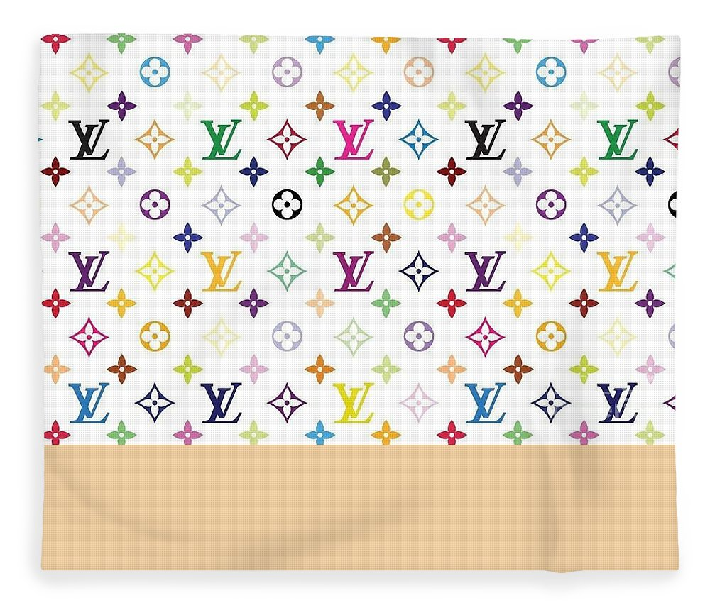 Louis Vuitton Fleece Blanket featuring the tapestry - textile Classic multicolor monogram pattern on white by Louis Vuitton