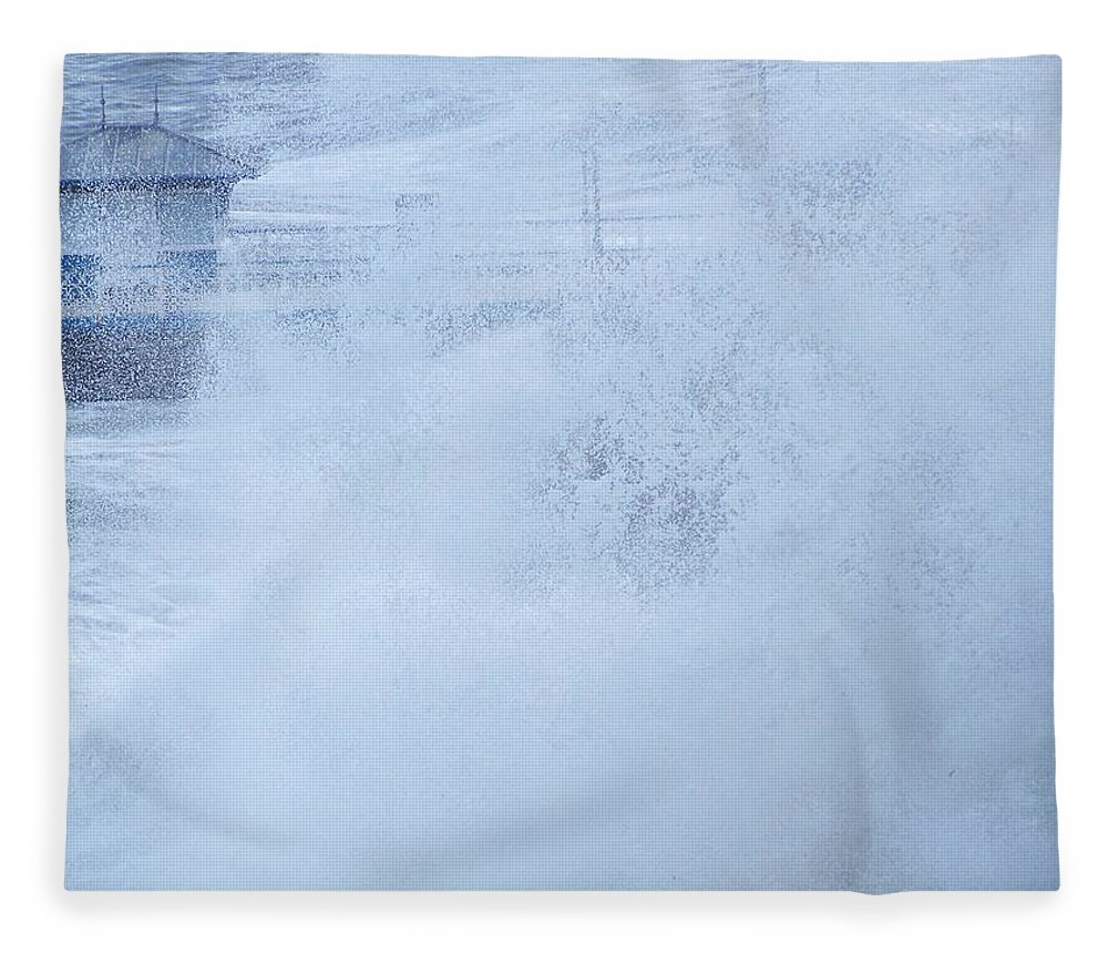 Waves Fleece Blanket featuring the photograph Close one by Christopher Rowlands
