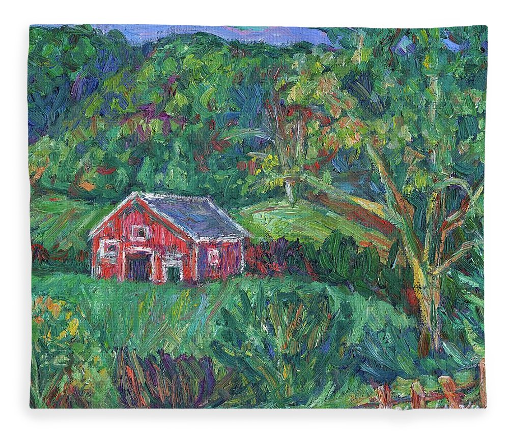 Rural Fleece Blanket featuring the painting Clover Hollow in Giles County by Kendall Kessler