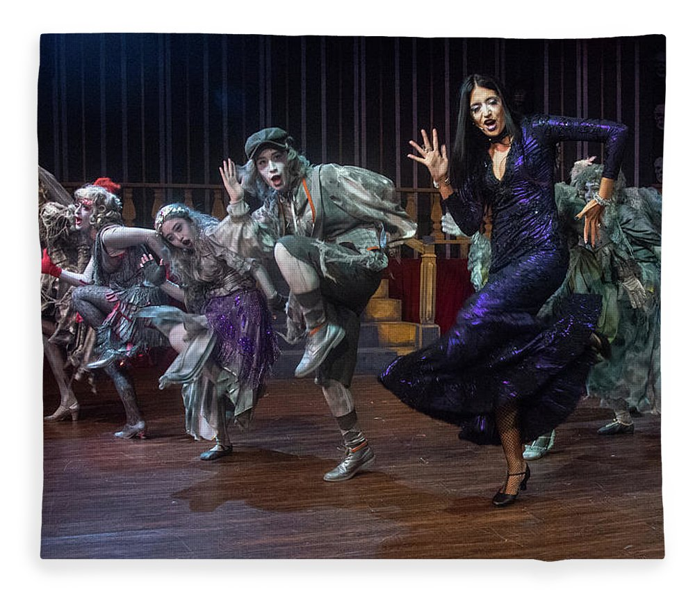Adams Family Fleece Blanket featuring the photograph Dance With The Relatives by Alan D Smith