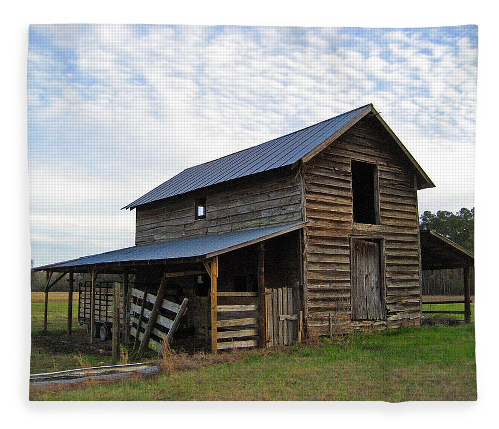 Barn Fleece Blanket featuring the photograph Days Gone By by Suzanne Gaff