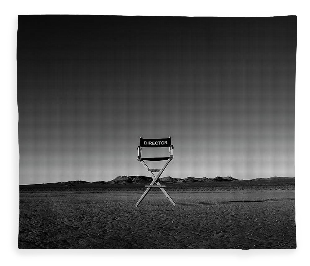 Fleece Blanket featuring the photograph Director's Cut by Brendan North