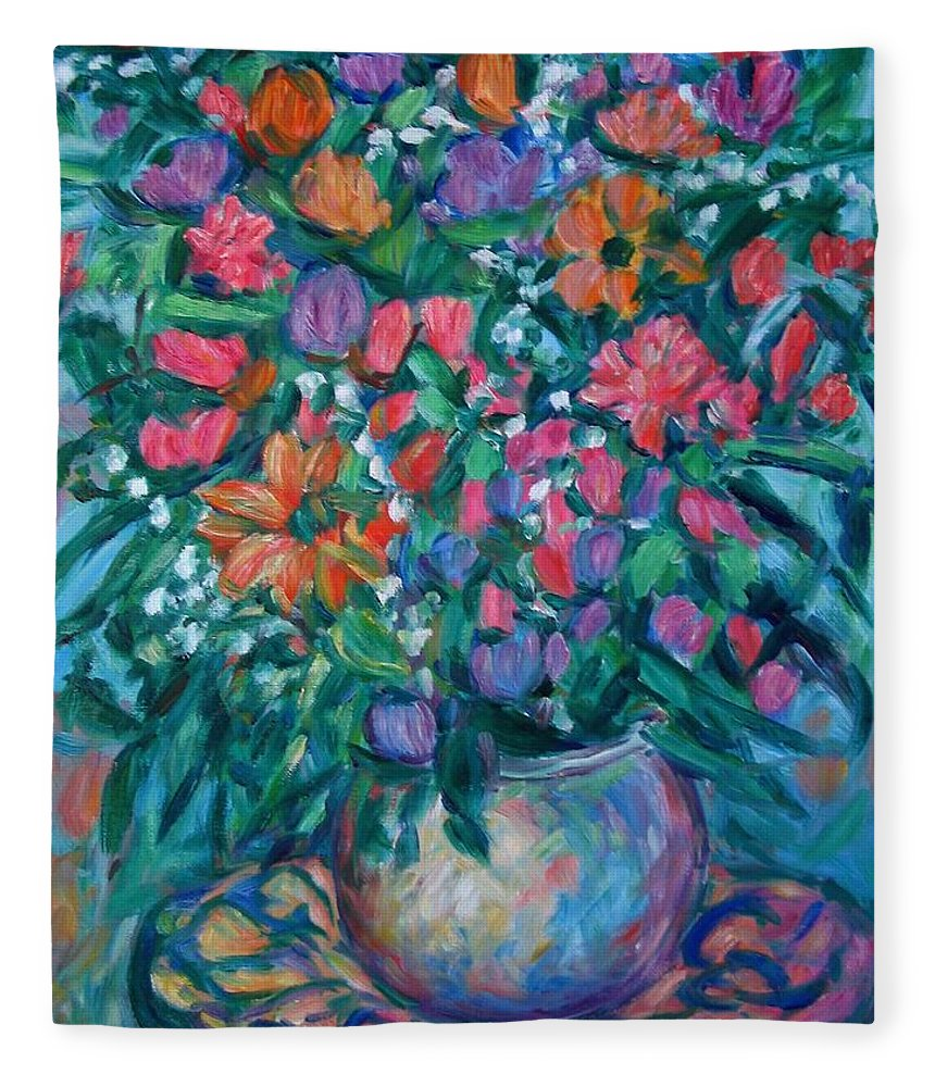Floral Paintings Fleece Blanket featuring the painting Dream Bouquet by Kendall Kessler