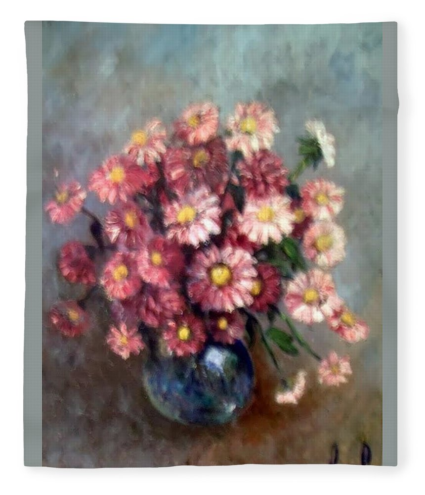 Fleece Blanket featuring the painting Early Paint by Carol P Kingsley