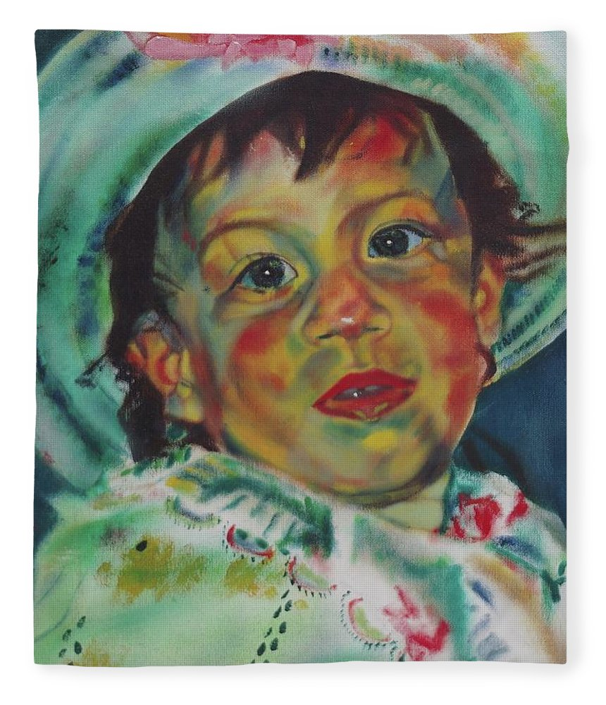 Easter Morning Fleece Blanket featuring the painting Easter by Sean Connolly