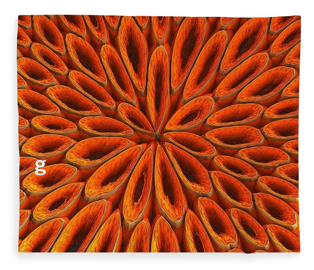 Fleece Blanket featuring the photograph Face Mask Orange by Getty Images