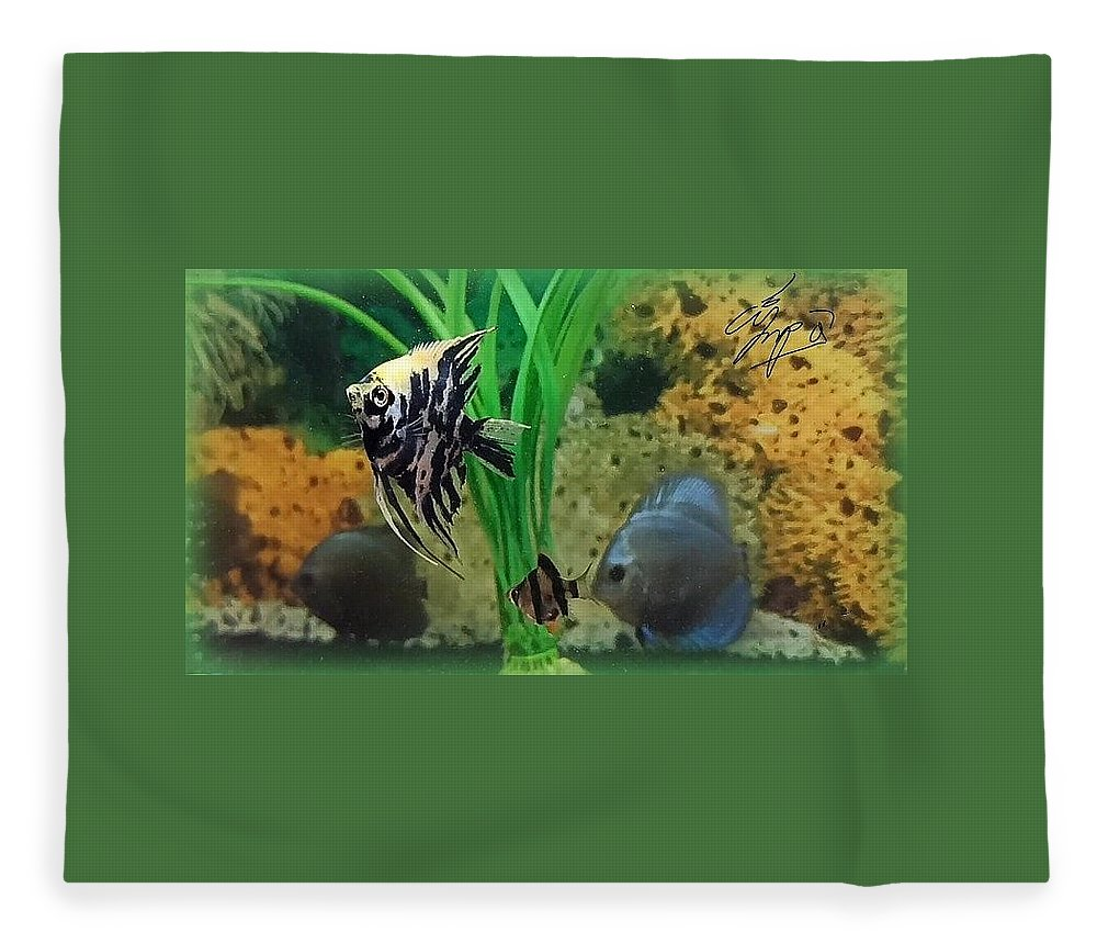 Fleece Blanket featuring the photograph Fish by Andrei Bin Ay