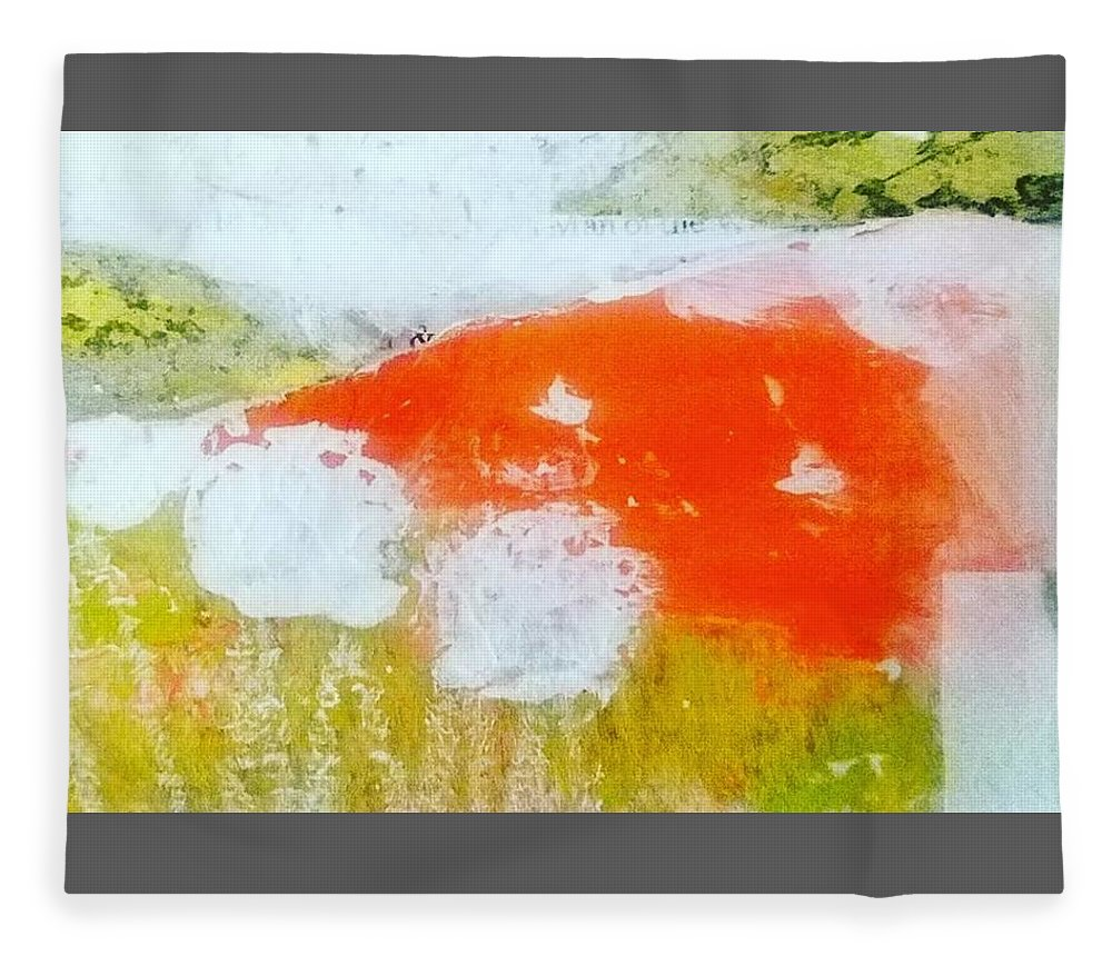 Acrylic Fleece Blanket featuring the painting Golddust by Patricia Byron