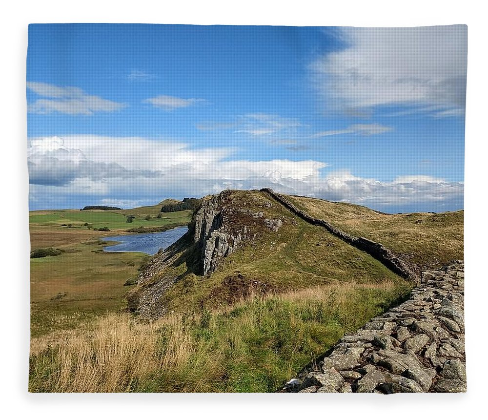 Landscape Fleece Blanket featuring the photograph Hadrianswall by Pop