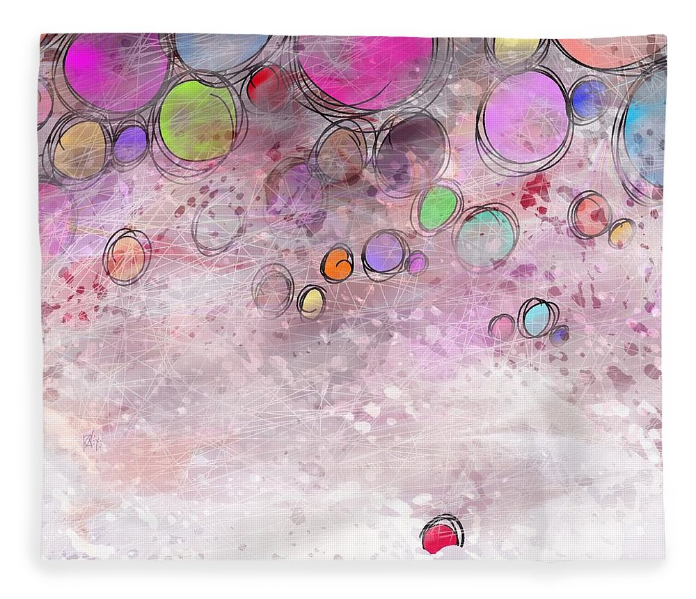 Abstract Fleece Blanket featuring the digital art In a world alone by William Russell Nowicki
