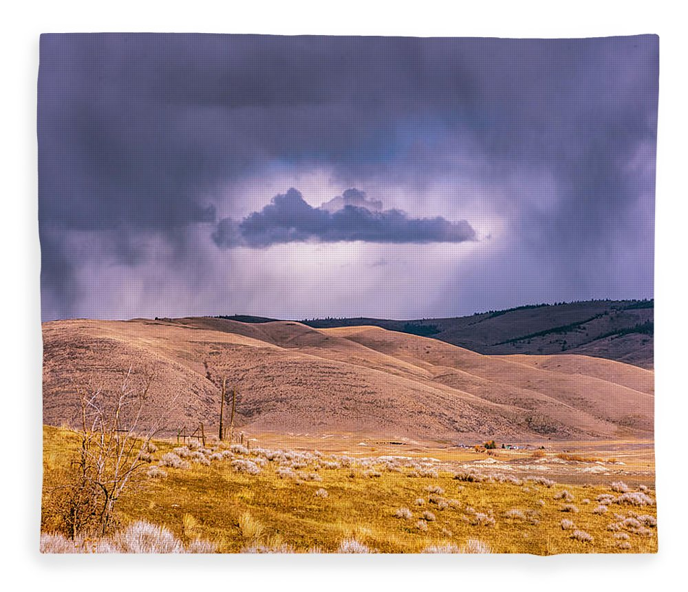 Little Bitterroot Valley Fleece Blanket featuring the photograph Is That Cloud Holy? by Bryan Spellman
