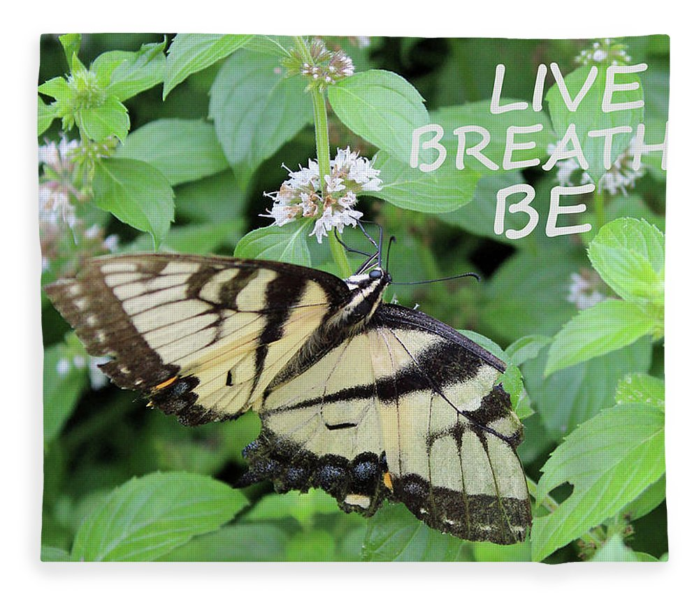 Nature Fleece Blanket featuring the photograph Live Breathe Be by Holly Morris