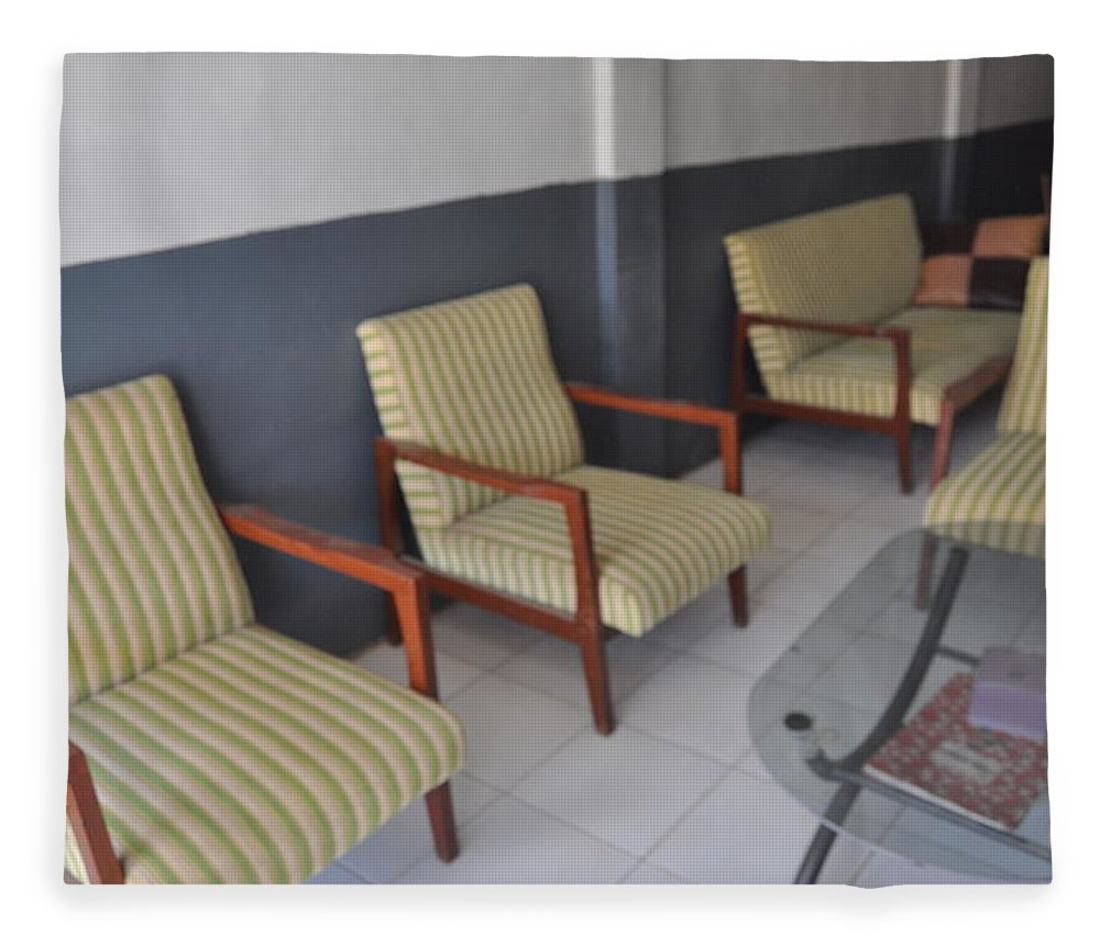 Chairs Fleece Blanket featuring the photograph Living Room by Hilmi Abdul Azis Firmansyah