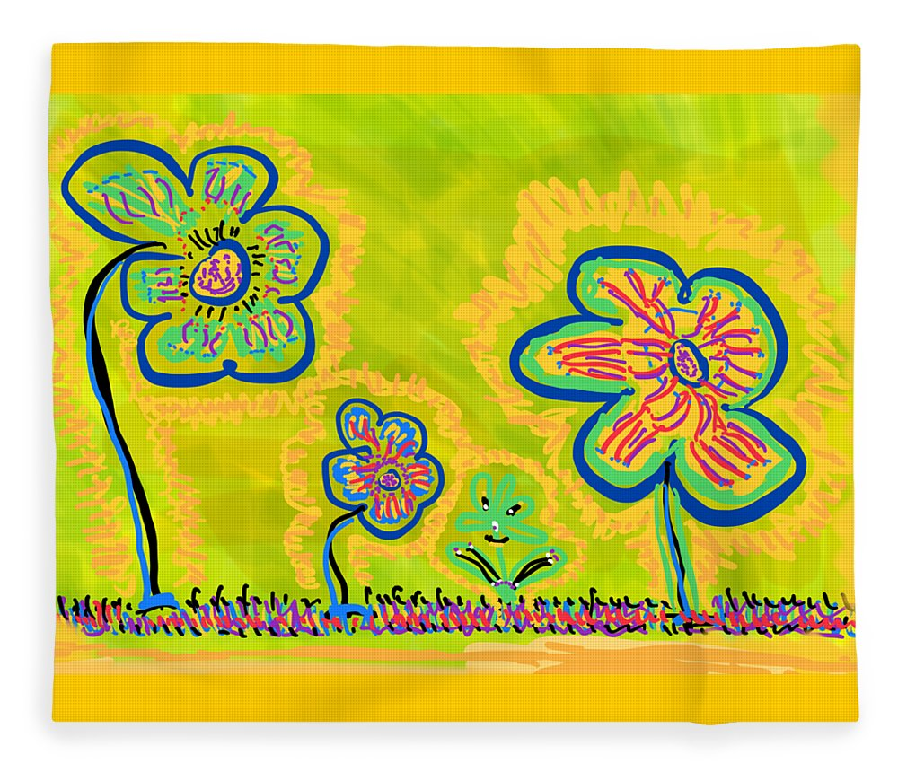 Spring Fleece Blanket featuring the drawing Looking for Spring by Pam Roth O'Mara