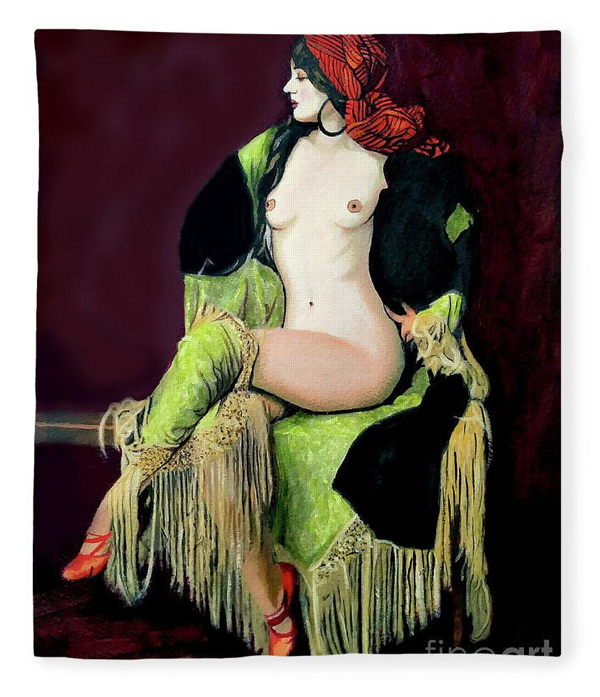 Women Fleece Blanket featuring the painting Looking Good by Jose Manuel Abraham