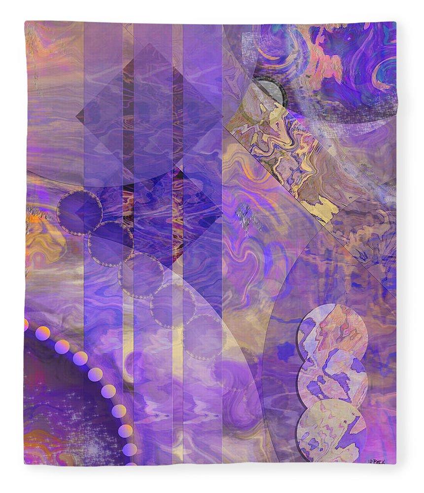 Lunar Impressions 2 Fleece Blanket featuring the digital art Lunar Impressions 2 by John Robert Beck