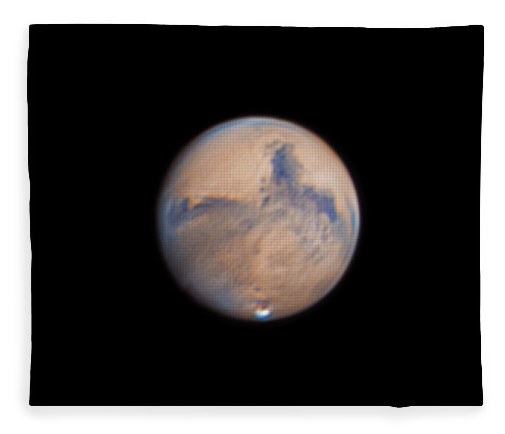 Mars Fleece Blanket featuring the photograph Mars from 31st October 2020 by Prabhu Astrophotography